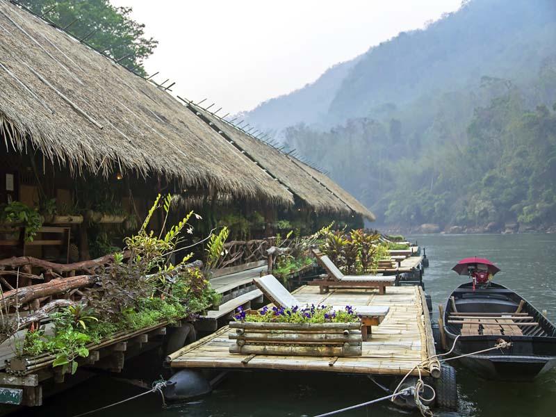 Idyllische Unterkunft am River Kwai